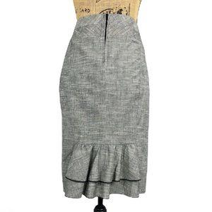 IZ Byer Tiered Ruffle Back Pencil Skirt Gray 5